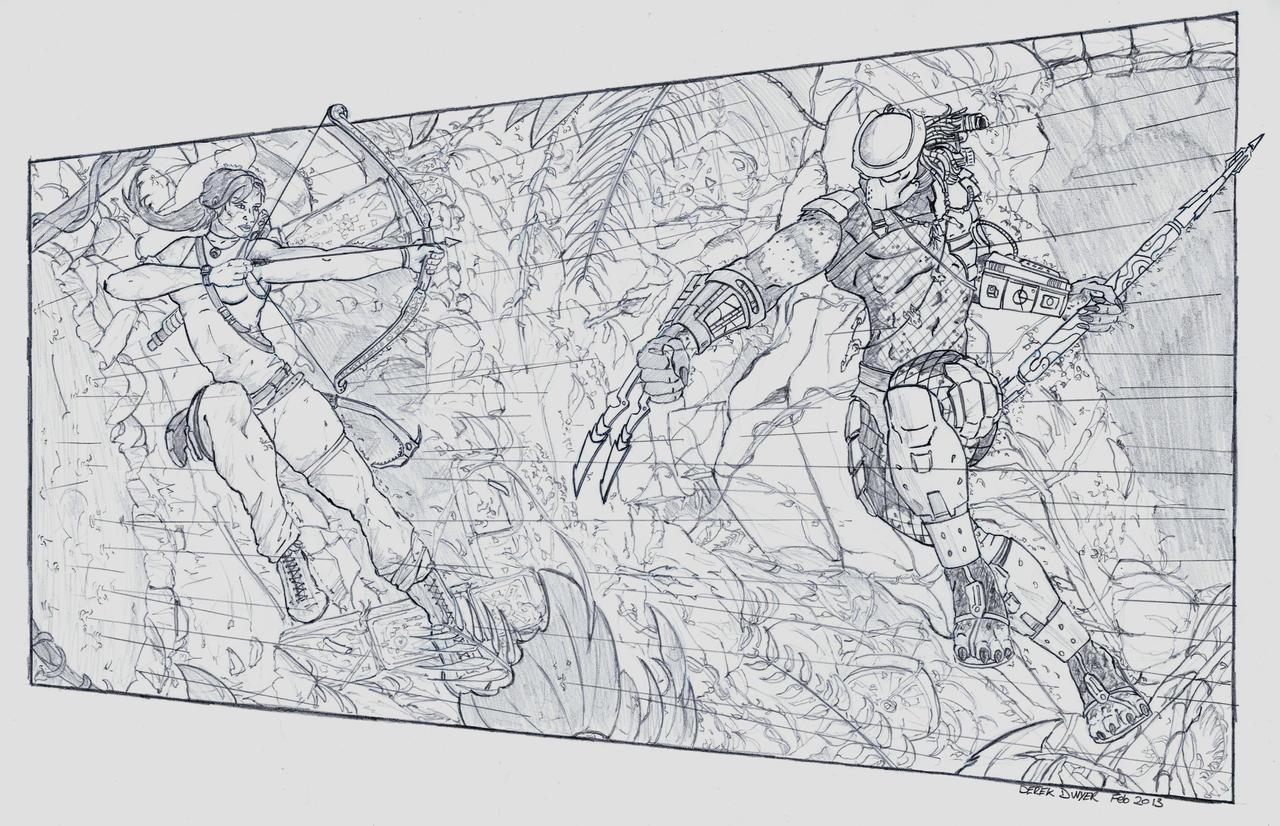Tomb Raider vs Predator by DerekDwyer