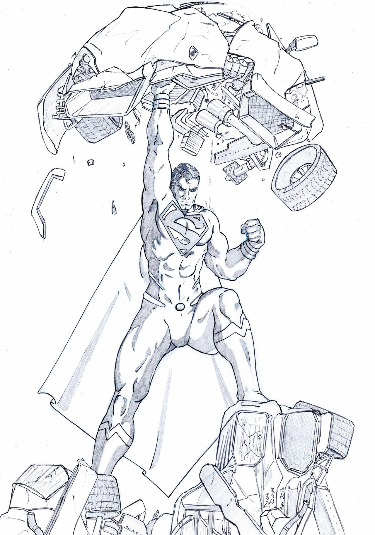 Superman man of steel by derekdwyer on deviantart for Man of steel coloring pages