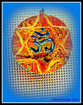 Om Hexagram Divine Fire by marita-renee-rain