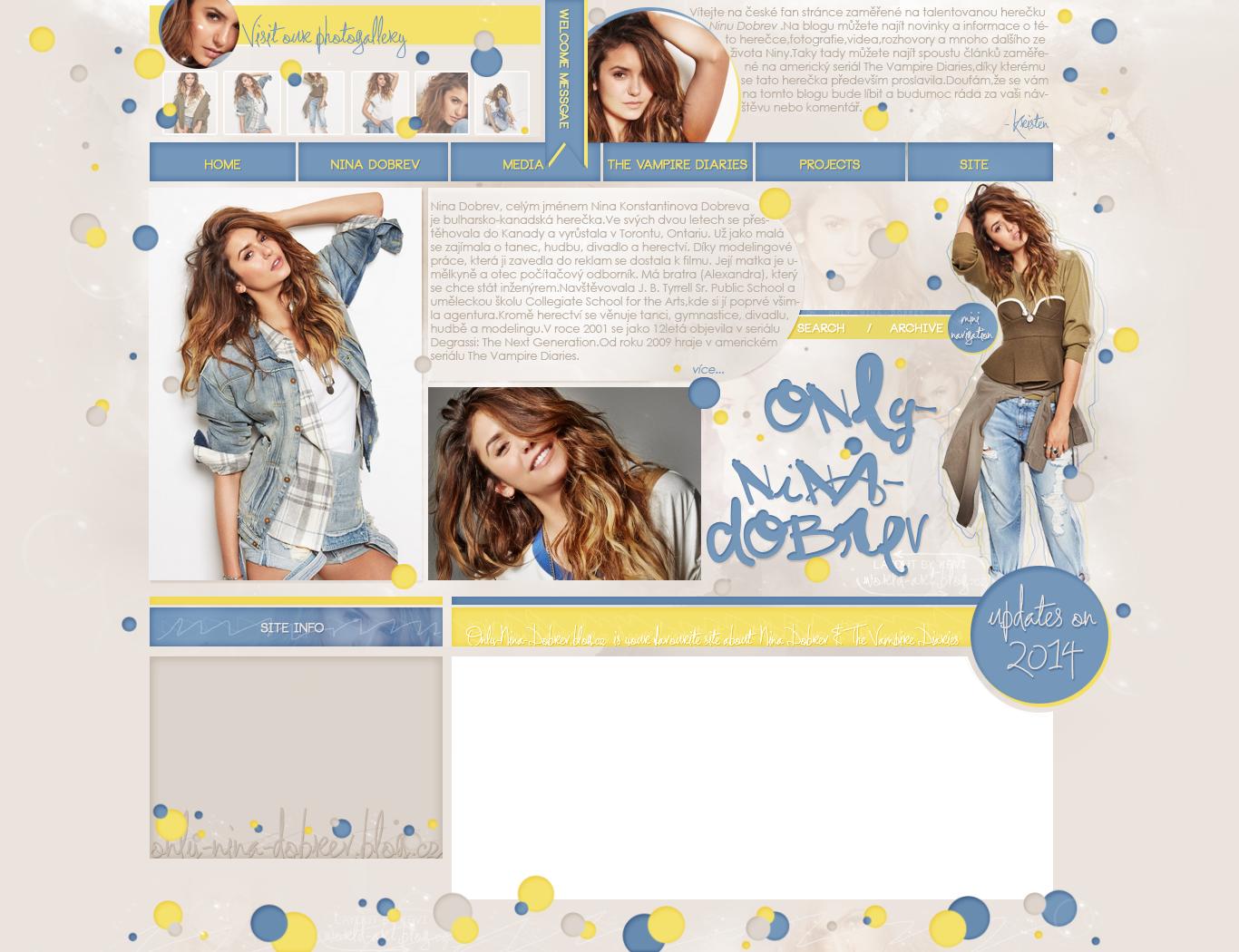Ordered layout | Only-Nina-Dobrev.blog.cz by KeviWorldArt