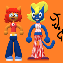 Lammy and Katy in 3D