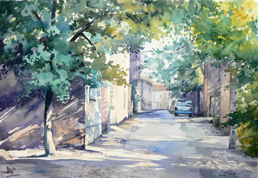 Srednia Street in Zielona Gora by mashami