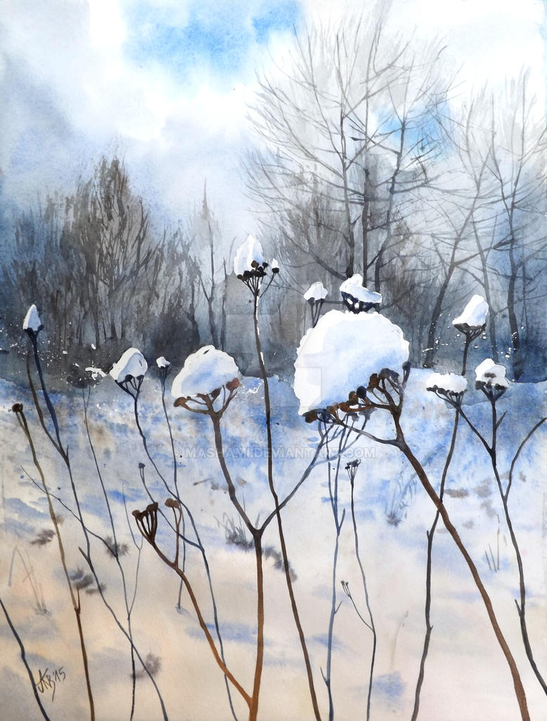 Winter meadow by mashami