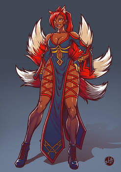 Nine Tailed Lady - Commission Work