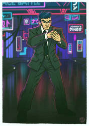 Hitman in Neon China Town - Commission Work