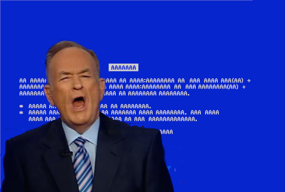 Blue Screen of AAAAA by phusion