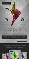 Sleepless MINIMAL FLYER PSD by fireworkstudio