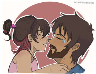 Lance and Ally nose Kiss by Jenni41