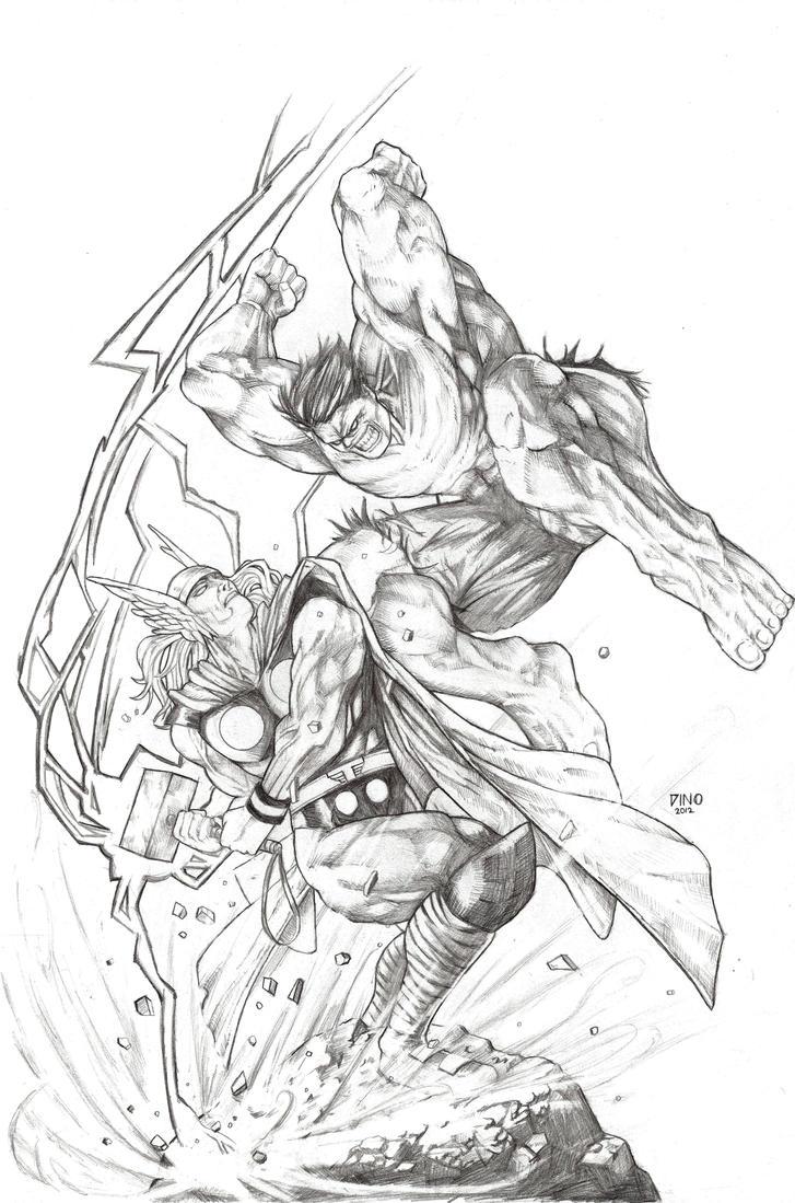 Hulk Vs Thor By Mythorkicksass On DeviantArt