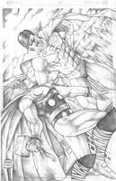 Thor vs Superman by mythorkicksass