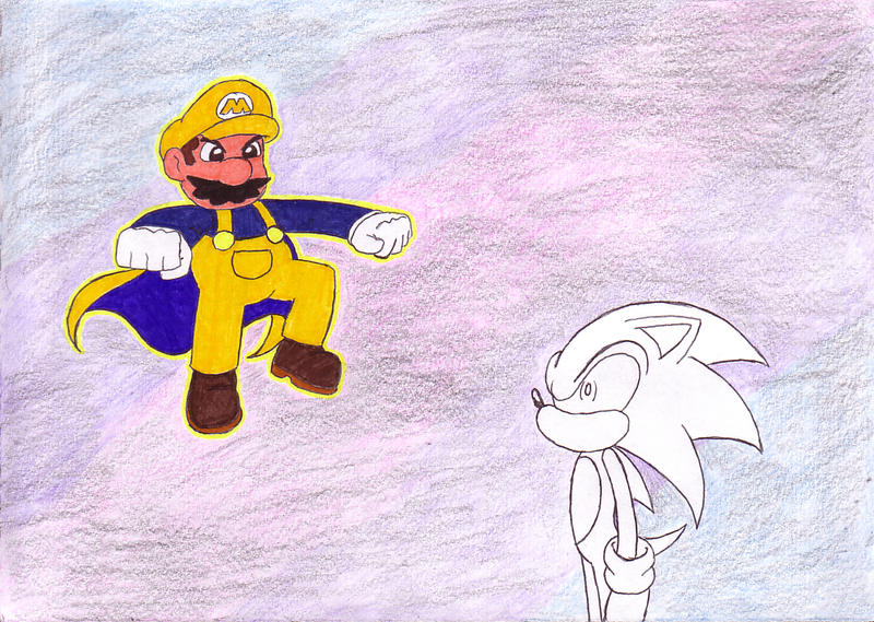 Super Mario vs Sonic by Shadowgirlfan on DeviantArt