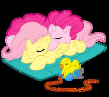 Fluttershy and Pinkie Corn? by Shadowgirlfan