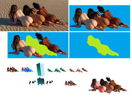 Process of pixelating a photograph in Paint