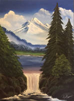 Mountain falls by soulartist90