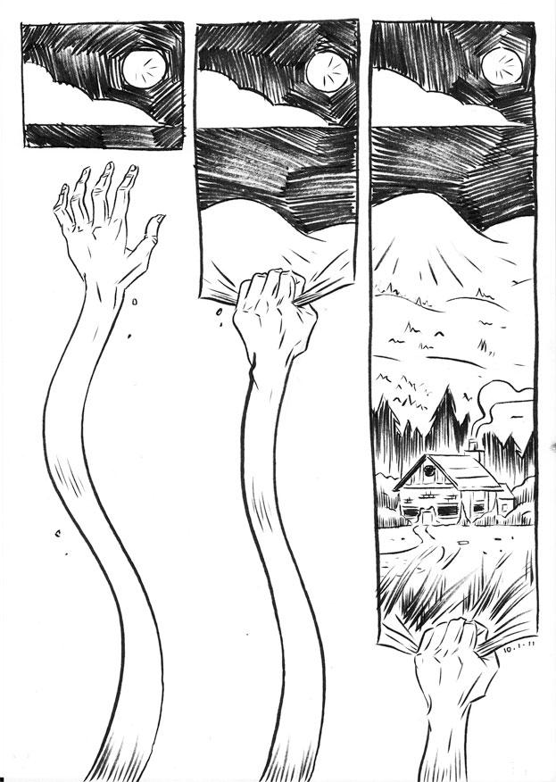 Daily Comic: Stretch by nellucnhoj