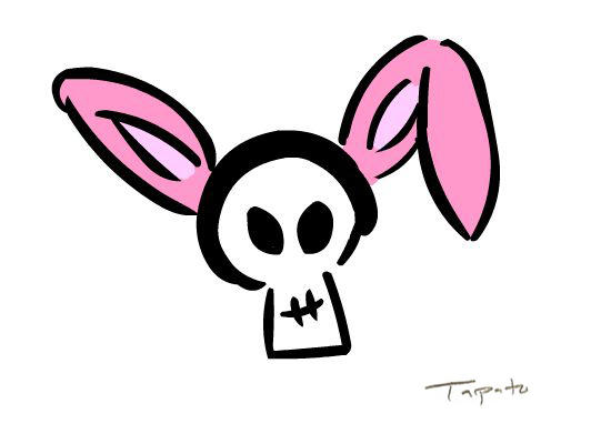 Skull with Bunny Ears by Tapato