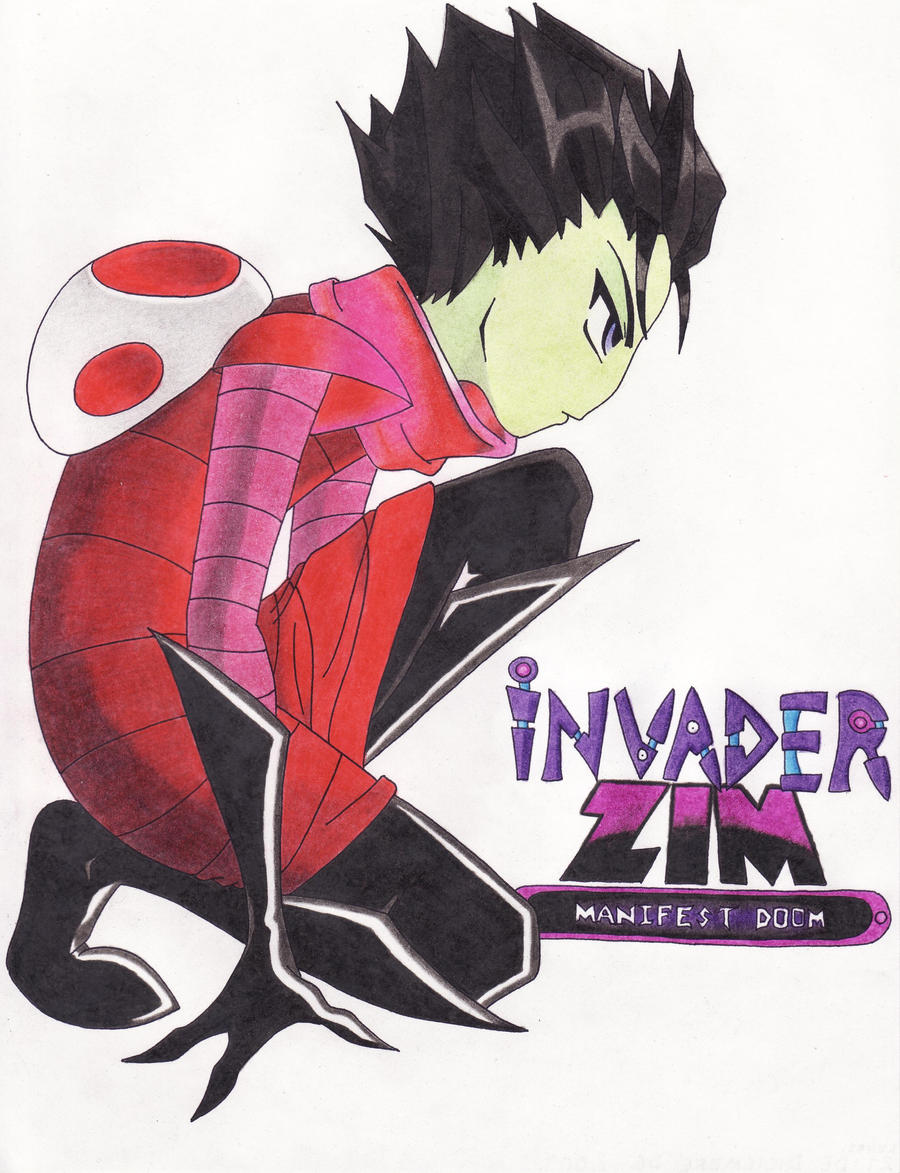 INVADER ZIM MANIFEST DOOM by CHICAIRKENZim And Gaz Anime
