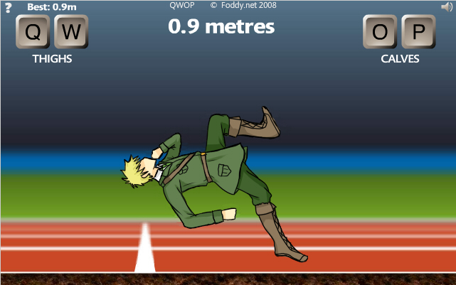 how to play qwop mobile