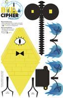 Bill Cipher - Papercraft by Moomuu