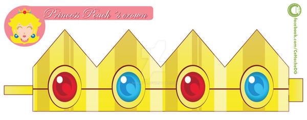 princess peach crown by moomuu on deviantart