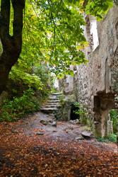 Castle ruins by iisjahstock