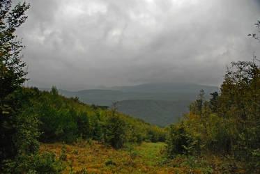 Misty valley by iisjahstock