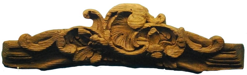 Ship wooden decoration