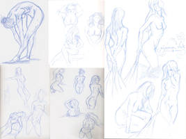 Anatomy Female drawing practic by mad-fever