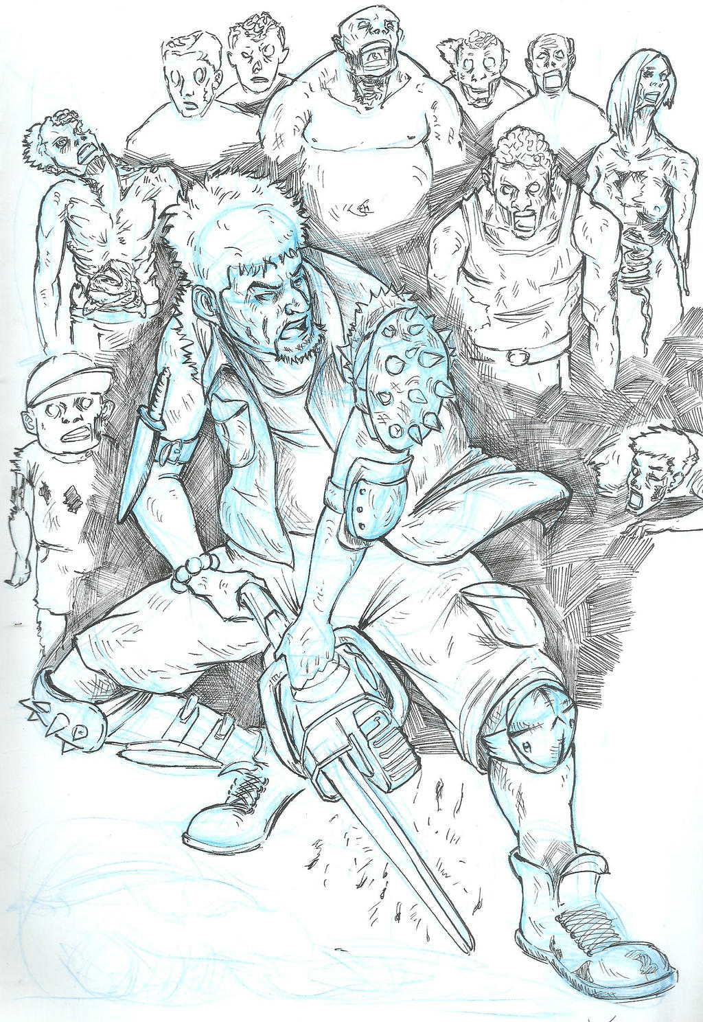 The zombie apocalypse coloring book -  Zombie Apocalypse 1 By Mad Fever