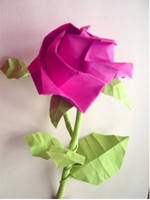 Origami rose by polomeque