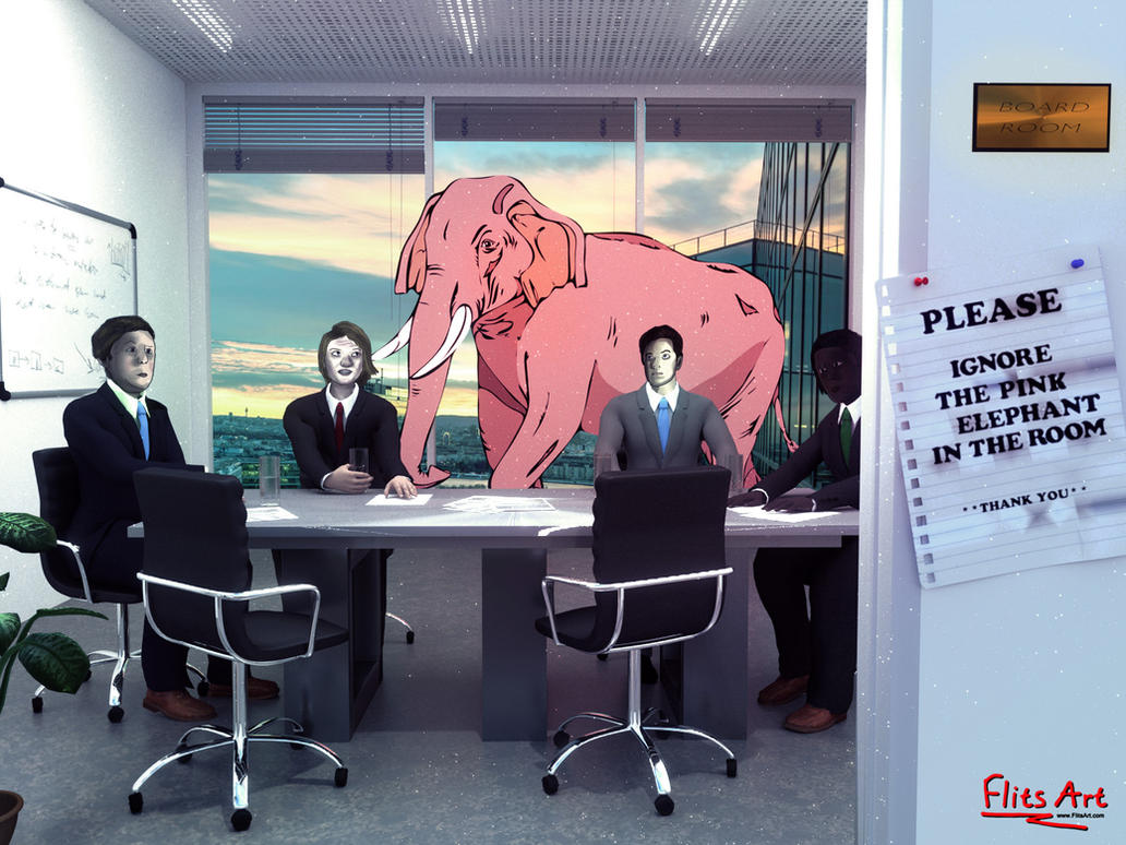 The Pink Elephant in the Room by FlitsArt on DeviantArt