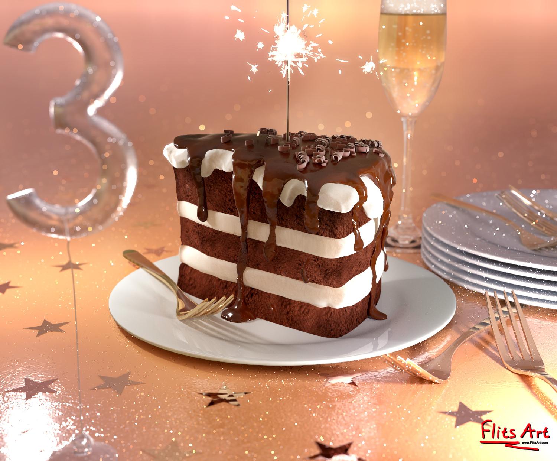 FlitsArt's 3rd Birthday! by FlitsArt