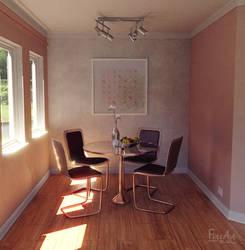 Modern Dining Room by FlitsArt