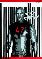 47 (HITMAN fan art) by FlitsArt