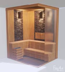 Sauna design by FlitsArt