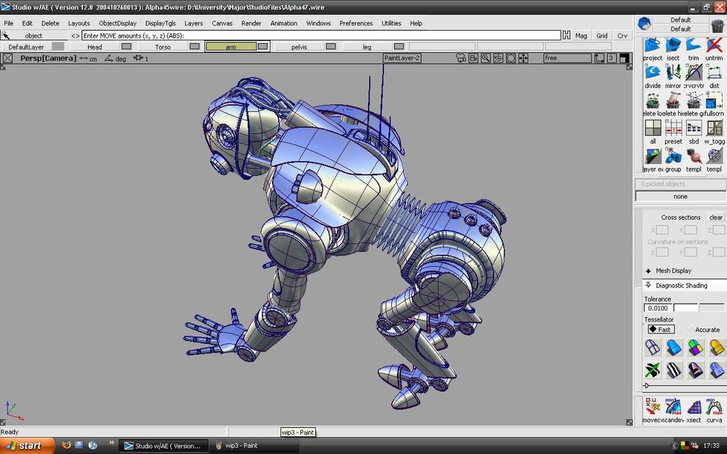 Robot W.I.P 4 by Elkins