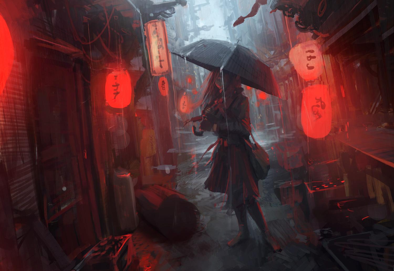 L'homme sous la pluie