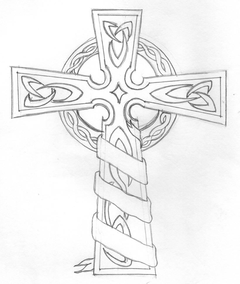 The gallery for cross tattoo coloring pages for Coloring pages crosses
