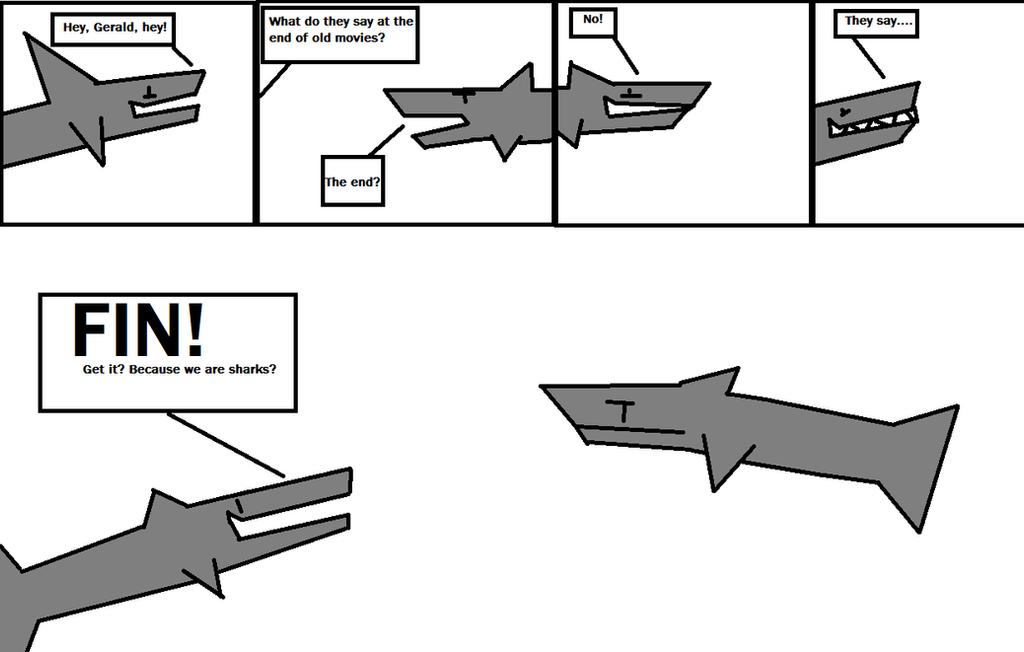 Shark  jokes by Professorfish