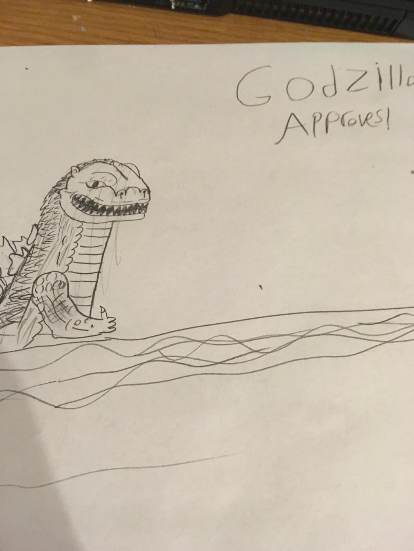 Godzilla approves by Professorfish