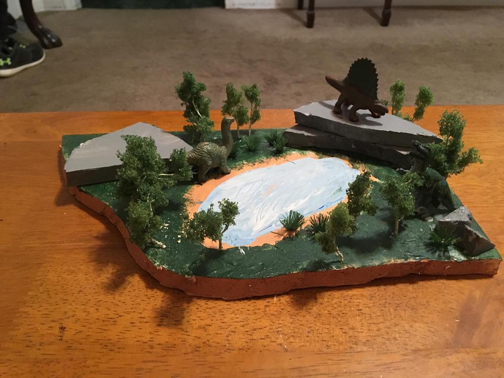 Dinosaur diorama #2 by Professorfish