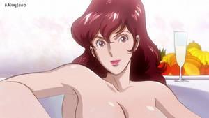 Fujiko Mine taking a bath
