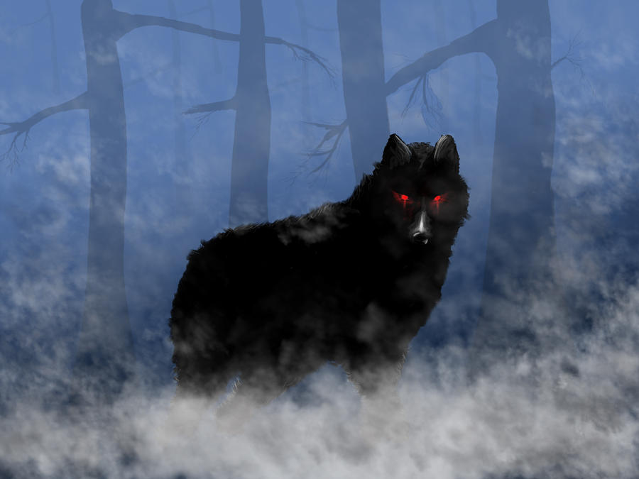 Naturally Black And White Wolf