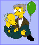 Mr. Burns and Smithers.