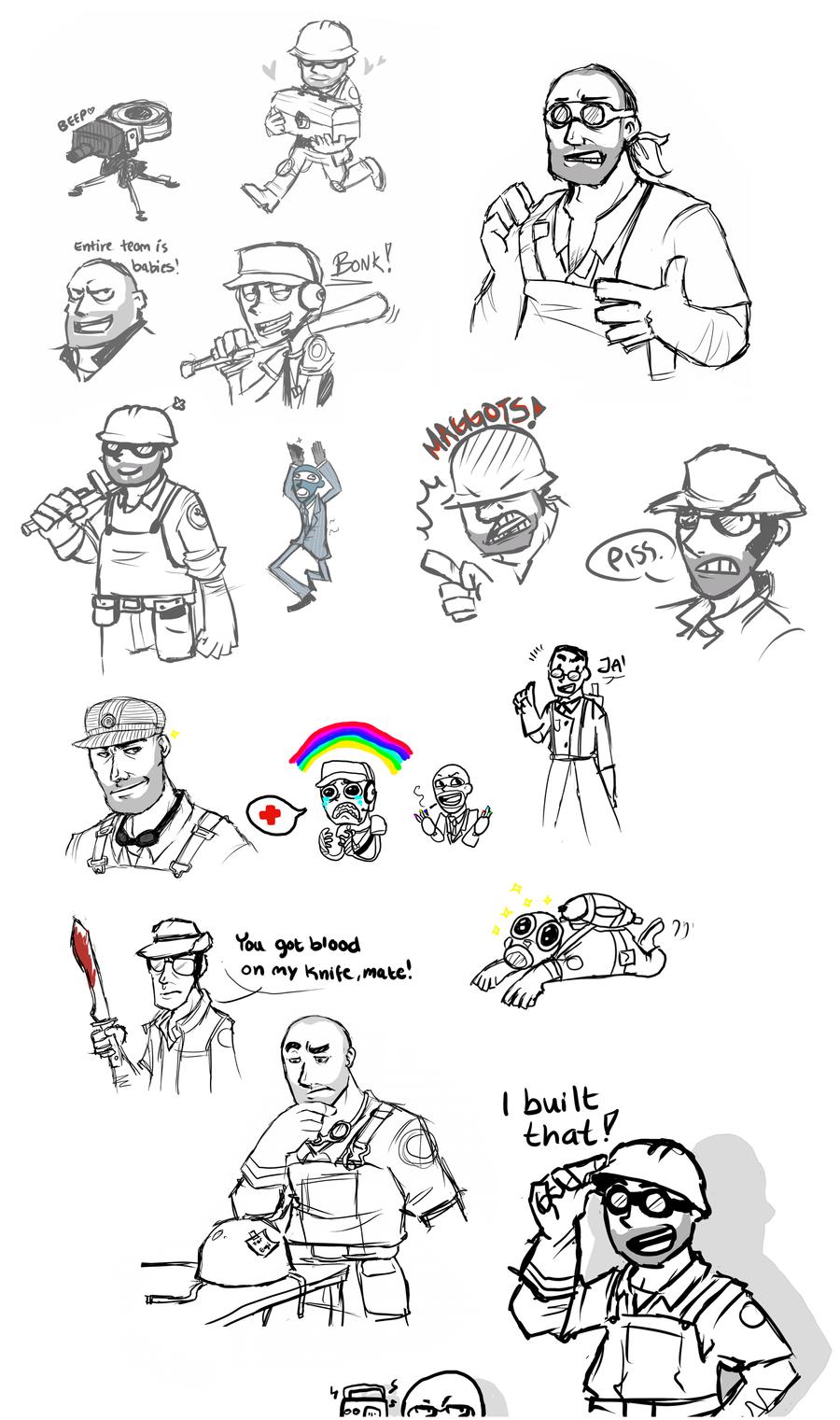 TF2 doodle dump by BUBBLE89
