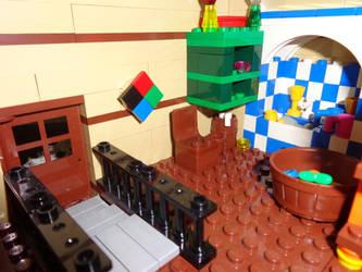 Custom Made Lego Howl's Moving Castle Door Shot