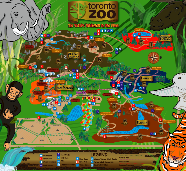 Toronto Zoo Map by FrankDaTank1 on DeviantArt