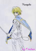 Kurapika with swords by Finchan