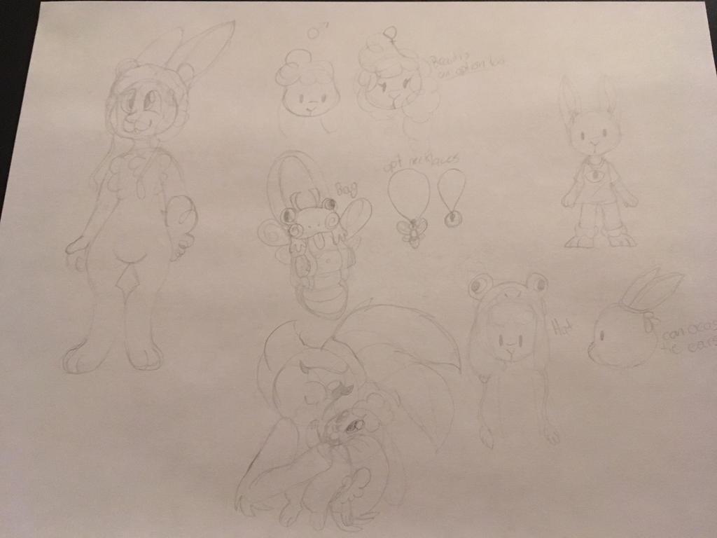 Froggert rabbit ref WIP by GingerStars