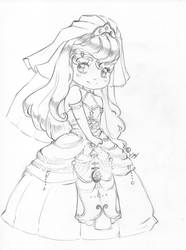 Chibi Bridal Michiko [by IllusionsArtwork] by TheGamingCentaur
